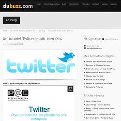 Un tutoriel Twitter plutôt bien fait. - dubuzz.com
