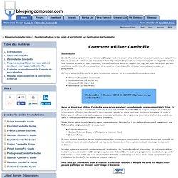 Un guide et un tutoriel sur l'utilisation de ComboFix
