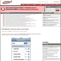 FreeWiFi/Tutoriel - iPhone/Mobile/PC