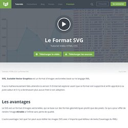 Tutoriel Vidéo HTML-CSS Le Format SVG