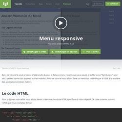 Tutoriel Vidéo HTML-CSS Menu responsive