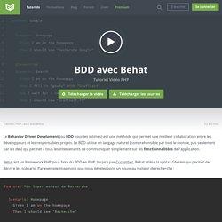 Tutoriel Vidéo PHP BDD avec Behat