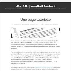 Une page tutorielle
