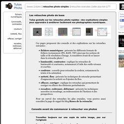 bases de la retouche photo : tutoriels gratuits pour apprendre à retoucher