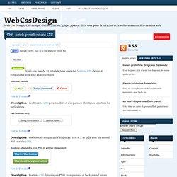 22 tutoriels pour boutons CSSWebCssDesign