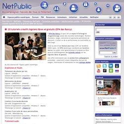 20 tutoriels créatifs logiciels libres et gratuits (EPN des Rancy)
