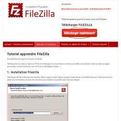 Tutoriels FileZilla - guide et listes