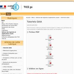Tutoriels GAIA - TiCE50