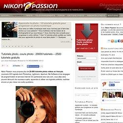 Tutoriels photo, cours photo : 29000 tutoriels - 2500 tutoriels gratuits