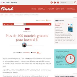 Plus de 100 tutoriels gratuits pour Joomla! 3 - Tutoriels Joomla! 3 gratuits