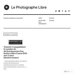 Tutoriels – Le Photographe Libre