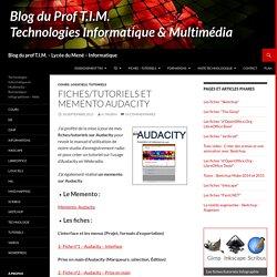 Fiches/Tutoriels et Memento Audacity