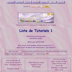 Liens Tutoriels Photofiltre et Photofiltre Studio