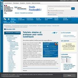 Tutoriels simples et pratiques pour outils numériques — Enseigner avec le numérique