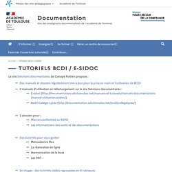 Tutoriels BCDI / E-sidoc