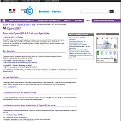 Tutoriels OpenERP 6.0.3 et cas Spécibike