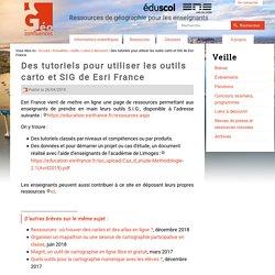 Des tutoriels pour utiliser les outils carto et SIG de Esri France
