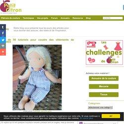 Plus de 50 tutoriels pour coudre des vêtements de poupées