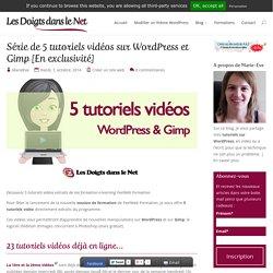 Série de 5 tutoriels vidéos sur WordPress et Gimp