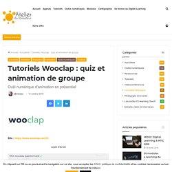 Tutoriel Wooclap : animation de groupe