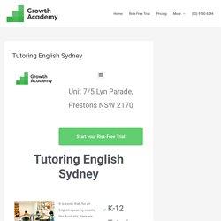 tutoring english sydney