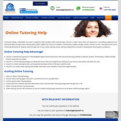 Tutoring Help from Experts