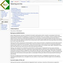 Tutoring on-line - ALT_Wiki
