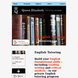 #1 Rated High Quality English Tutoring