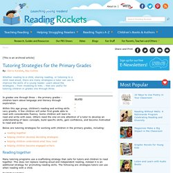 Tutoring Strategies for the Primary Grades