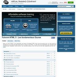 Tutorom HTML 5 : Les fondamentaux Course Online