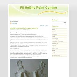 tutos couture - Fil Hélène Point Comme