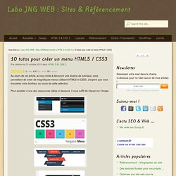 10 tutos pour créer un menu HTML5 / CSS3