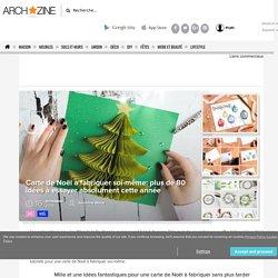 tutos et modèles de carte de Noël à fabriquer