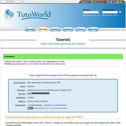 Etre anonyme sur Internet avec Tor (Informatique > Autre)