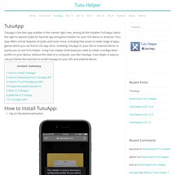 TutuApp - Download TutuApp For iOS (iPhone / iPad) and Android – Tutu Helper