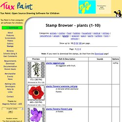 Tux Paint - Stamp Browser - plants (1-10)
