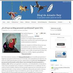 ¿Es el tuyo un blog personal o profesional? (post-323