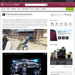 TV 3D sans lunettes et 8K chez Panasonic
