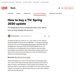Cutting through the confusion - TV Buying Guide