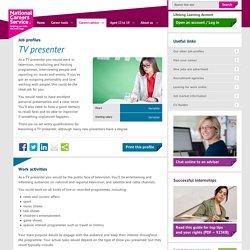 Tv presenter Job Information