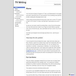 TV Writing