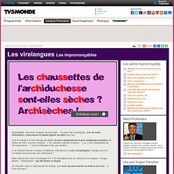 TV5MONDE- Les virelangues