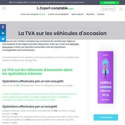 La TVA sur les véhicules d'occasion