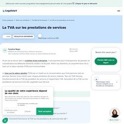 La TVA sur les prestations de services