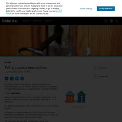 TVA et travaux immobiliers