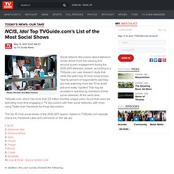 NCIS, Idol Top TVGuide.com's List of the Most Social Shows
