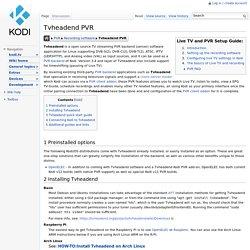Tvheadend PVR