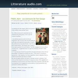 Mark Twain – Les Aventures de Tom Sawyer - à écouter