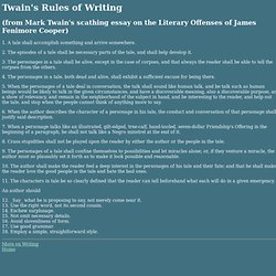 Twain's Rules of Writing