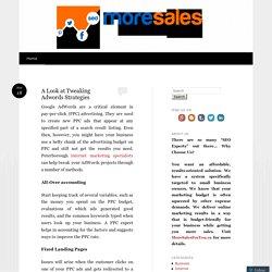 A Look at Tweaking Adwords Strategies